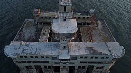 Drone captures eerie Soviet weapons testing site in Caspian Sea *EXCLUSIVE*