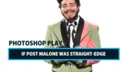 Celeb Photoshop Transformation: If Post Malone was straight-edge