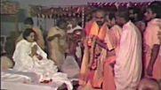 Ashramites chant the Chandi before Sri Ma Anandamayi