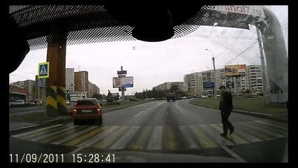 Руски пътни хулигани!