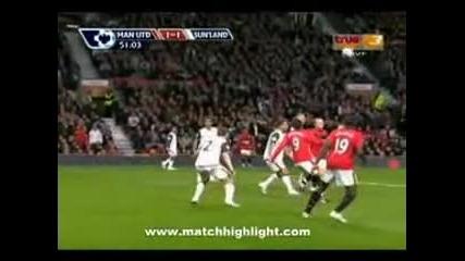 Manchester Uniteted - Sunderland 2:2 Berbatov s unikaledn gol(03.10.09)