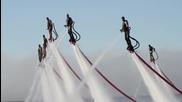 Летящи хора над водата, забавление за лятото!