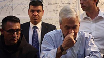 State of Palestine: Chilean president Pinera visits Bethlehem's Nativity Church