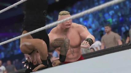 Roman Reigns срещу Brock Lesnar - Wrestlemania 31 Wwe 2k15 simulation
