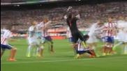 Кристиано Роналдо удари Диего Годин в лицето (атлетико Мадрид 1-0 Реал Мадрид)