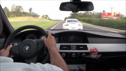 Лудост на пътя • гонка с Bmw M5 V10 !