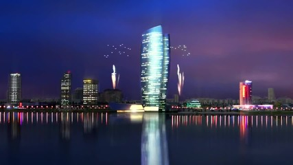Kazan City and Riviera tower