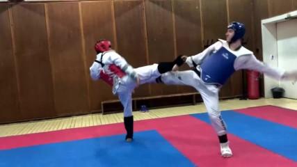 Изкуството на ударите с крака.