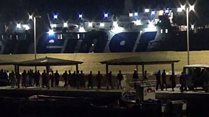 Italy: 82 migrants disembark rescue ship 'Ocean Viking' in Lampedusa