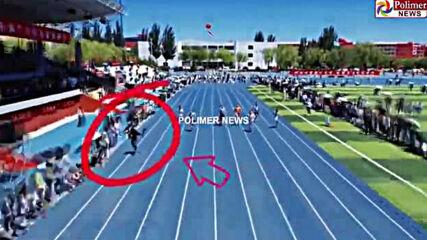 Китайски оператор надбяга атлети в Китай