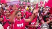 Brazil: Thousands of pro-Dilma protesters take to Sao Paolo's streets