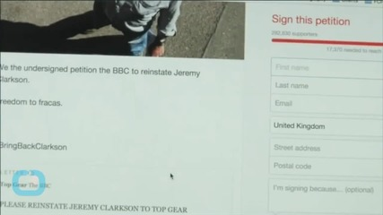 Jeremy Clarkson Supporters Use Tank to Deliver Petition to Reinstate 'Top Gear' Host
