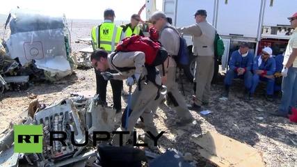 Egypt: International investigators survey Sinai crash site