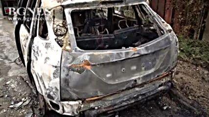 Кола изгоря в движение край Кочериново