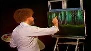 S04 Радостта на живописта с Bob Ross E07 - колиба в гоирата ღобучение в рисуване, живописღ
