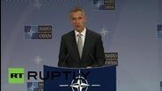 """Belgium: NATO's Stoltenberg urges Russia to """"de-conflict"""" in Syria"""