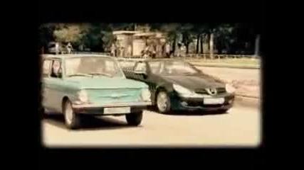 Заз 968 Kompressor срещу Mercedes Benz Coupe - Смях !