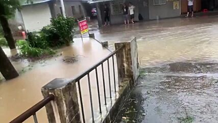 China: Typhoon In-Fa makes landfall in Ningbo flooding streets