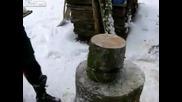 Как се цепят дърва