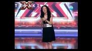 Момиче разплака публиката и журито - X - Factor България 12.09.11