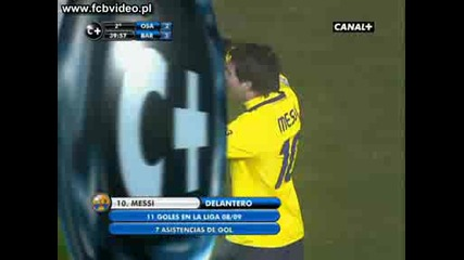 11.01 Osasuna - Barca Messi 2 - 3 Goal