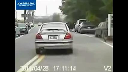Удар на мотор с кола !!!