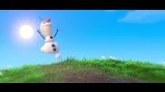 """Сцена от филма """" Замръзналото кралство"""""""