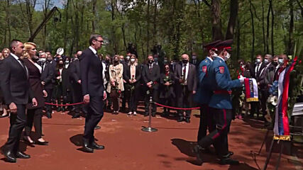 Bosnia and Herzegovina: Serbia's Vucic attends remembrance ceremony at fmr Jasenovac concentration camp