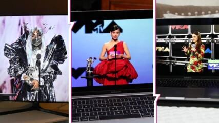 Липсинг, социална дистанция и още... Кои са най-странните моменти от наградите на MTV?