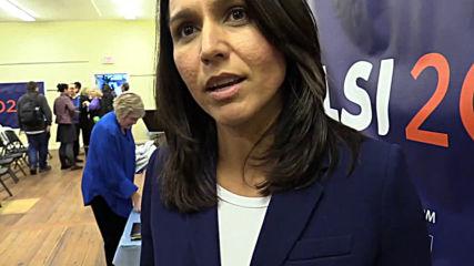 USA: Democratic presidential hopeful Tulsi Gabbard tours New Hampshire