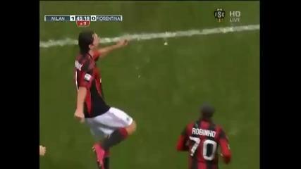 20.11.10 Страхотен гол на Ибрахимович срещу Фиорентина! Милан 1:0 Фиорентина