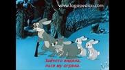 Зайченцето бяло - Детска песничка (с текст)