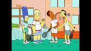 Семейство Симпсън - Тенис кортът С12е12 Бг Аудио