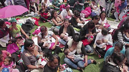 Colombia: 2,000 women celebrate World Breastfeeding Week in Bogota