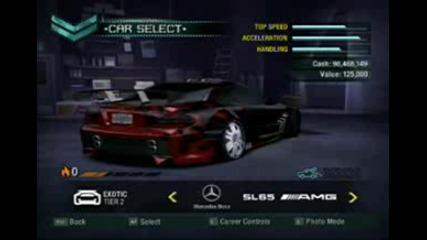 Nfs Carbon car list