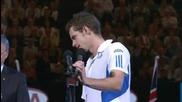 Australian Open 2010 : Мъри плаче на церемонията по награждаването