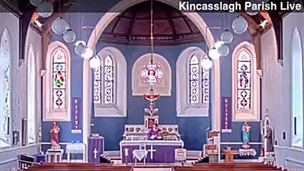 Live-streamed mass in Irish church takes unexpected turn with rap blasting at start of blessing