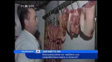 Консумацията на червено или преработено месо е опасна