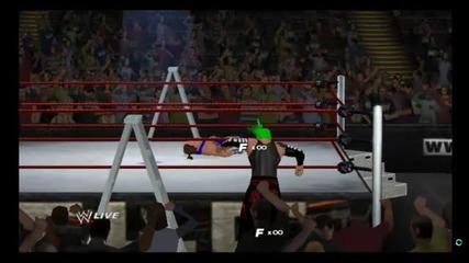 wwe'13 джеф харди срещу роб ван дан мач с стълби