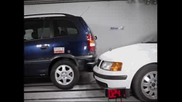 zafira vs.passat bumpers crash test