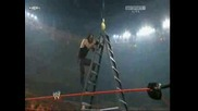 Undertaker vs Edge match with table ladder and chairs