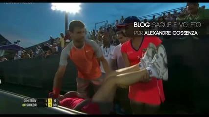 Григор Димитров спря мач, за да помогне на момиче