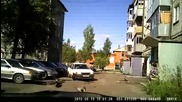 Woman Driver Trying to Park Her Car
