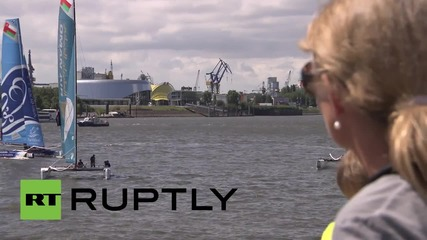 Germany: 2015's Extreme Sailing Series gets underway in Hamburg
