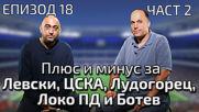 Плюс и минус за Левски, ЦСКА, Лудогорец, Локо Пд и Ботев Пд.