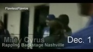 Miley Cyrus Rapping Backstage - Nashville (wonderland Concert) - Dec 1 2009