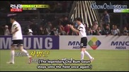 [ Eng Subs ] Running Man - Ep. 200 (with Park Ji Sung and Cha Bum Geun) - 1/2