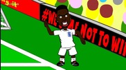 Анимации за световното: Англия 1 - 2 Италия