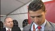 Ronaldo after winning the Champions League Finals 2007_2008