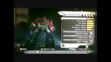 Transformers Rotf new character s and stats